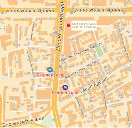 Схема проезда - гостиница Lotte Hotel Moscow OSPcon.